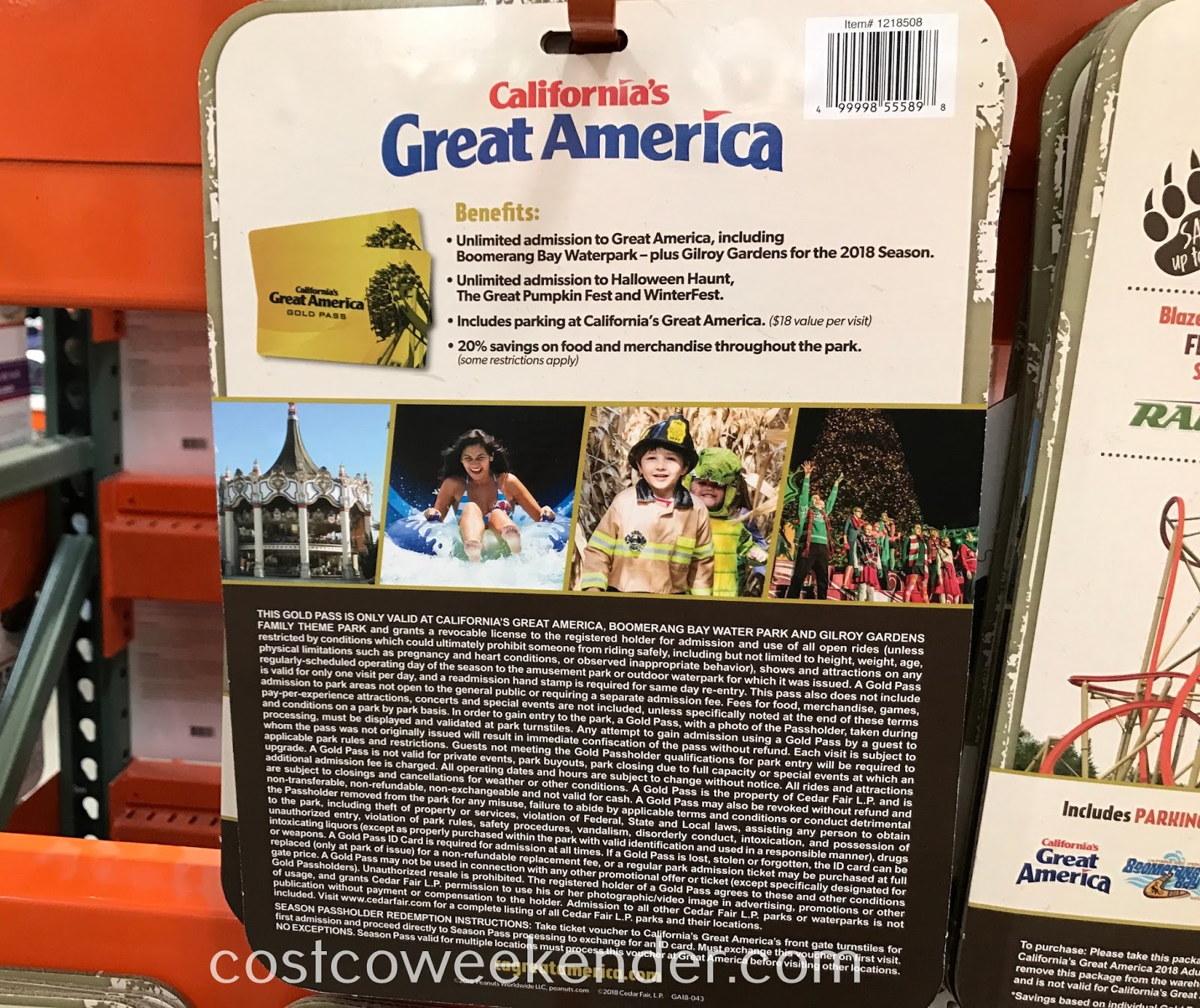 Costco 1218508 - California's Great America: summer fun for the whole family