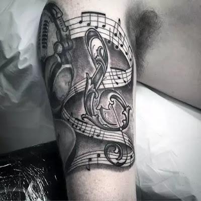 Awesome Keyboard Tattoos Musical