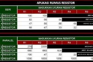 Aplikasi Penghitung Resistor Paralel dan Seri