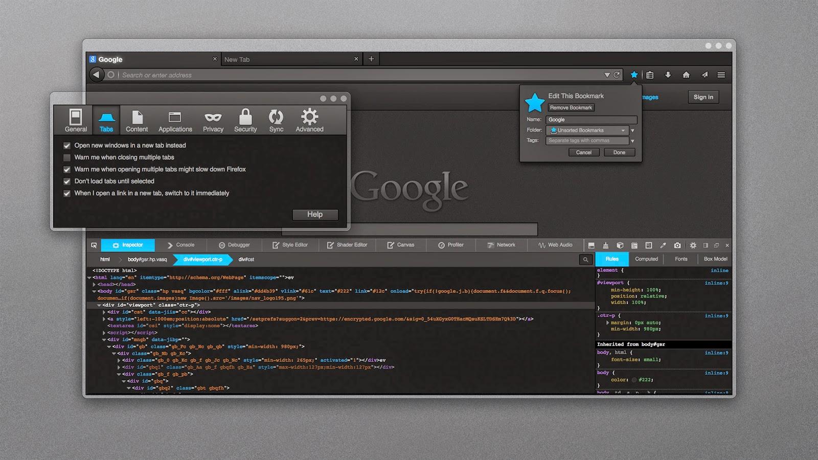 FT Deepdark - Best theme for Firefox