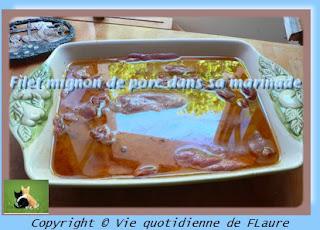 Vie quotidienne de FLaure: Filet mignon de porc mariné, au barbecue