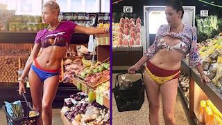 Без комплексов: женщина пародирует фото «гламурных» красавиц из Instagram
