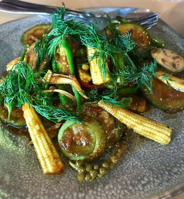 Bang Bang, Elsternwick, stir fried apple eggplants