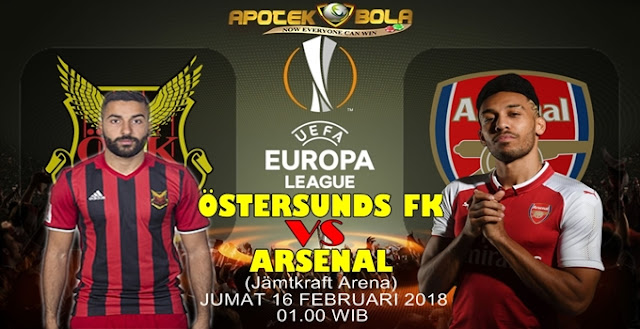 Prediksi Ostersunds vs Arsenal 16 Februari 2018