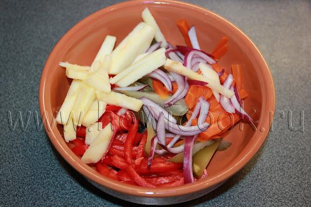 рецепт пикантного салата с говядиной с пошаговыми фото