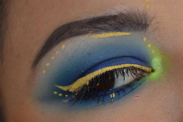 yellow eyeliner makeup con vivid bright vivid halo nyx professional makeup
