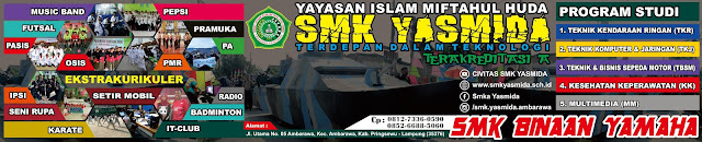 Design Banner Spanduk Promosi Sekolah SMK Yasmida Ambarawa