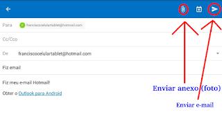 Como mandar um email Hotmail pelo tablet