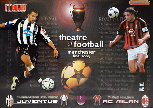 THEATRE OF FOOTBALL MANCHESTER FINAL 2003 JUVENTUS VS AC MILAN