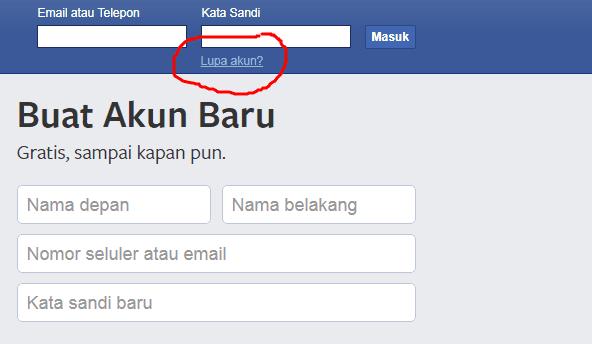 Cara Hack Facebook Via Lupa Kata Sandi