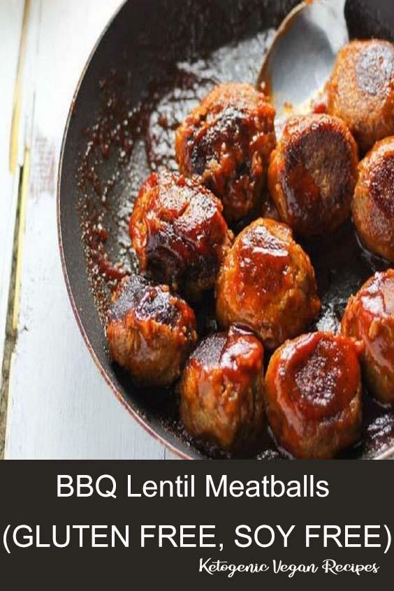 BBQ Lentil Meatballs (GLUTEN FREE, SOY FREE)