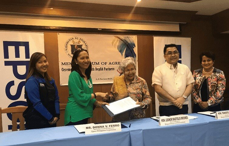 Epson and DepEd Team Up to Strengthen Gift of Brightness Project
