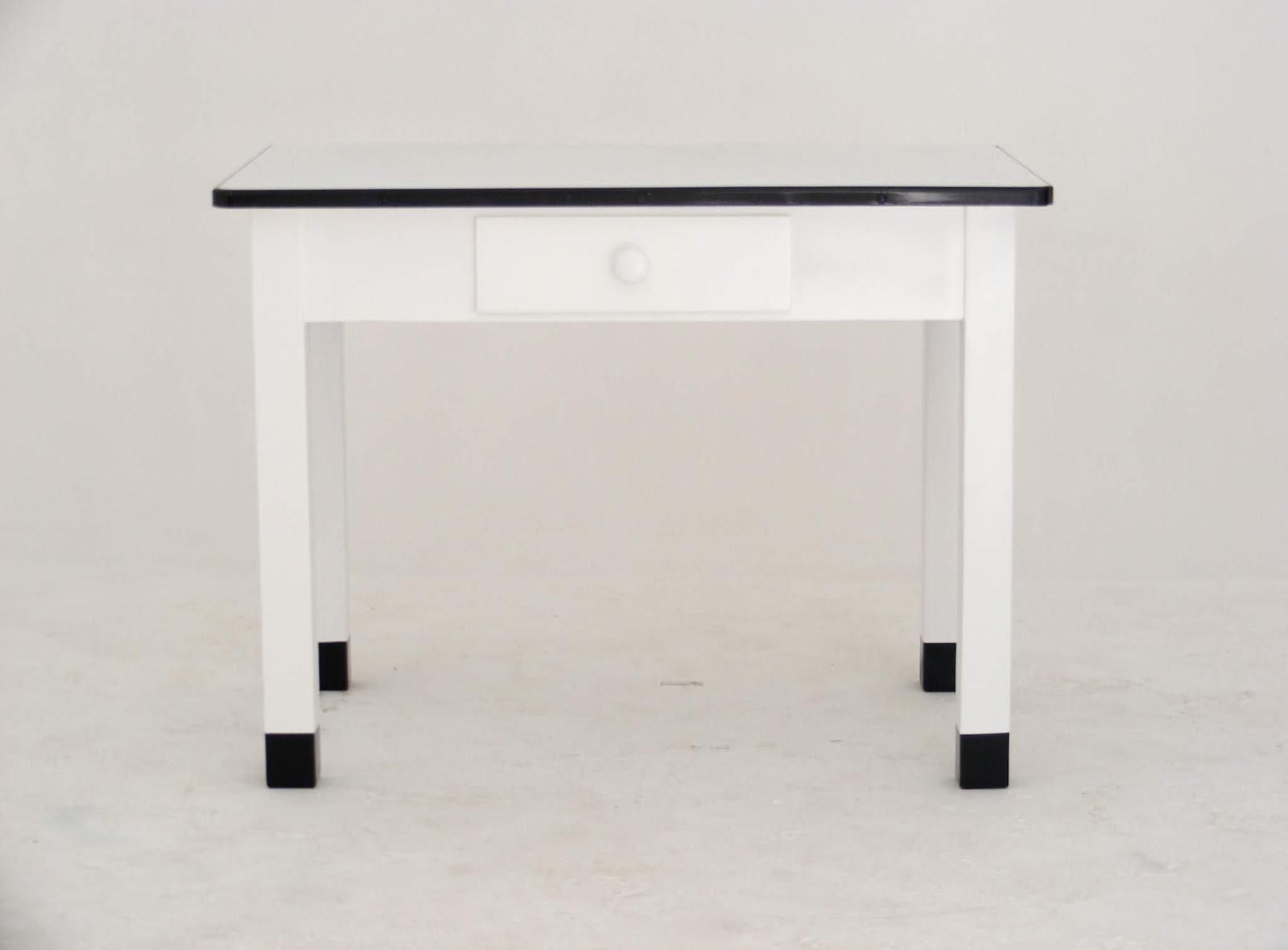 VAMP FURNITURE: A vintage enamel top kitchen table at ...