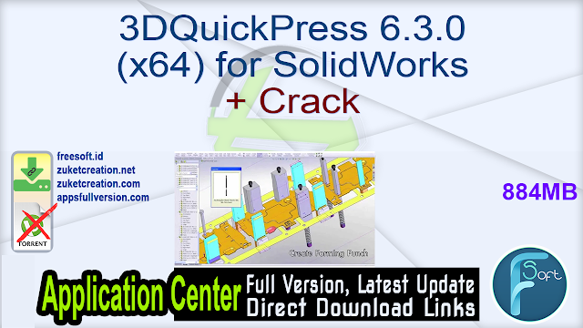 3DQuickPress 6.3.0 (x64) for SolidWorks + Crack