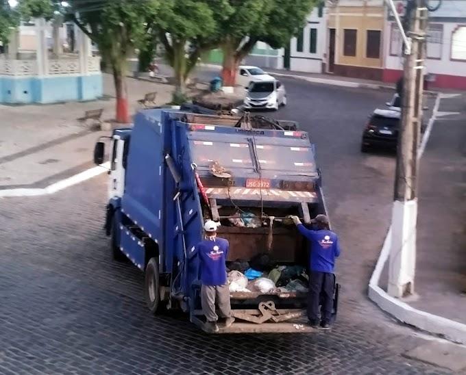 Prefeitura de São Gonçalo dos Campos retoma coleta de lixo; suspensão ocorreu após agente de limpeza morrer em acidente