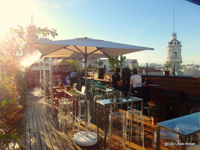 Madrid - rooftopbar at hotel Iberostar Las Letras