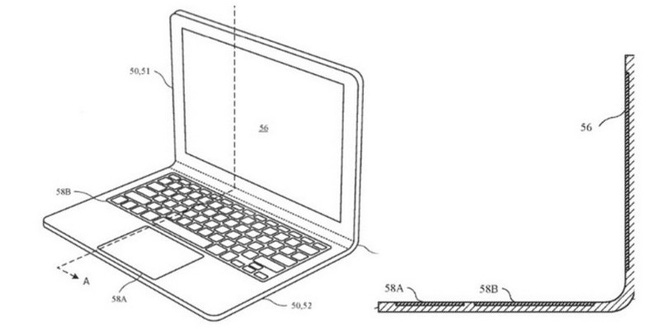 Apple hé lộ ý tưởng bằng sáng chế laptop màn hình cong, có thể áp dụng trên MacBook trong tương lai?