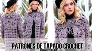 Patrones de Tapado a Crochet con Técnica Freeform 💗
