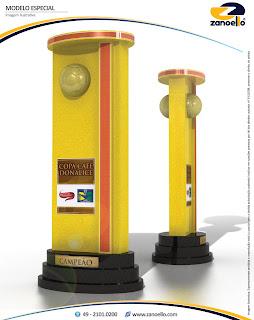 Equipe vencedora levará o belissimo troféu do Campeonato Amador de Futebol de Muriaé