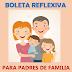 """REFLEXIÓN """"BOLETA DE CALIFICACIONES"""" PARA PADRES."""