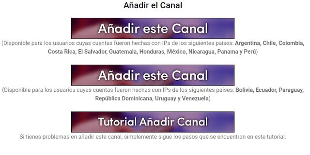 Añadir este Canal Hollogram Television