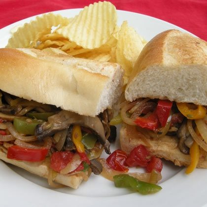 Italian-Inspired Peppers and Onion Sandwich