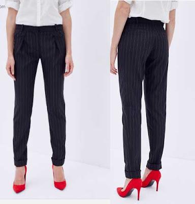pantalon mujer slim color negro