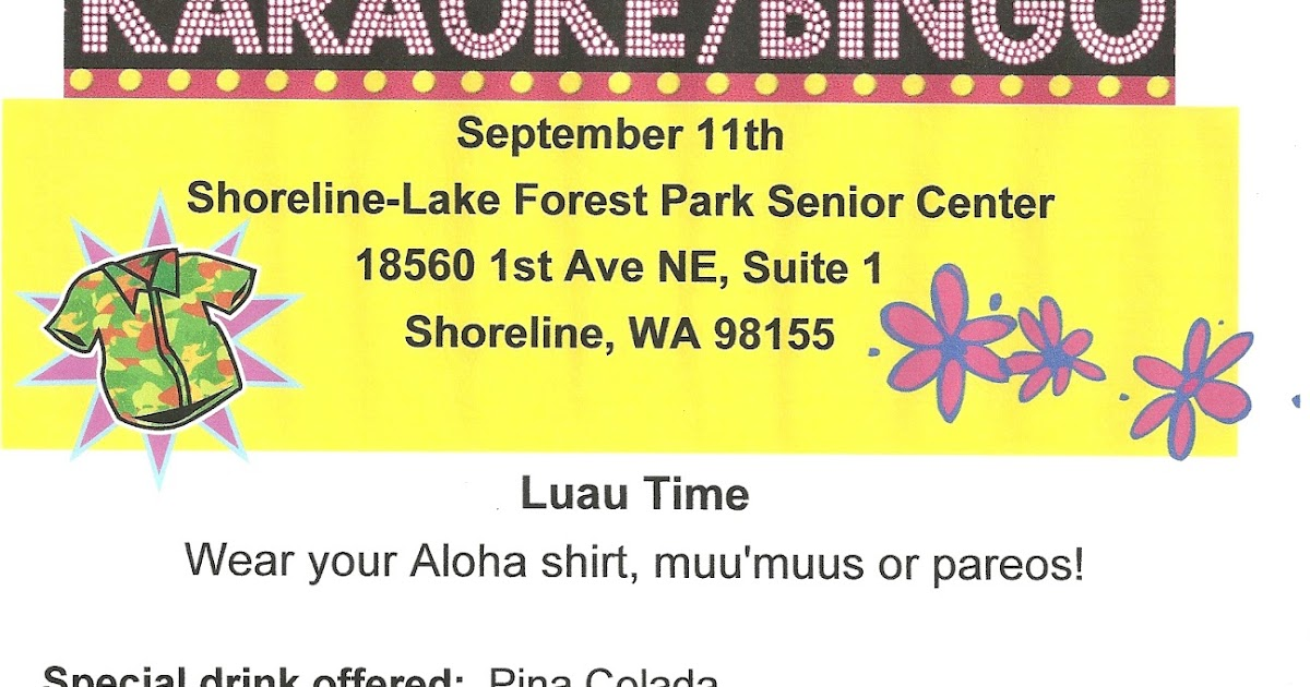 Shoreline Area News: Luau themed Karaoke / Bingo night