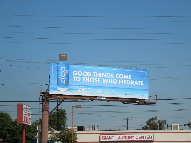 Zico Chocolate coconut water billboard