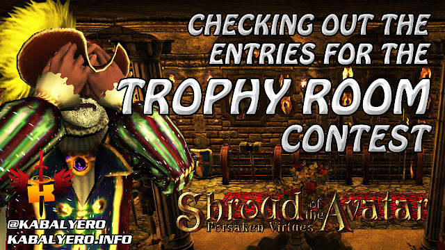 Checking Out The Entries To The Trophy Room Contest In Shroud of the Avatar