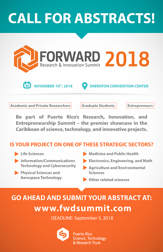 Forward Research & Innovation Summit 2018 hace un llamado a someter abstract