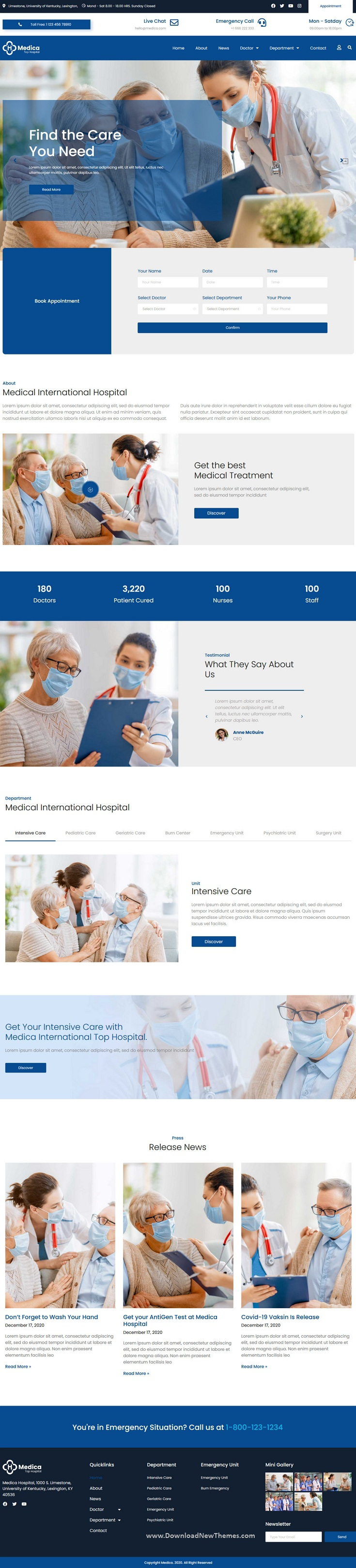 Hospital and Clinic Elementor Template Kit