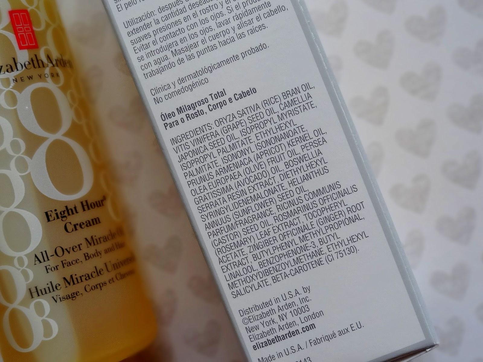 eight hour cream ingredients