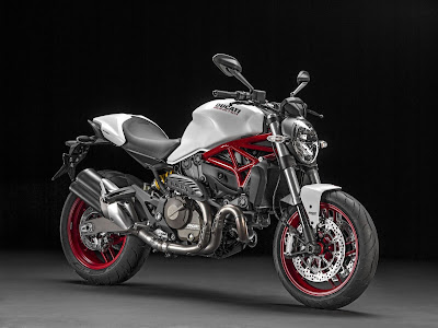 Ducati Monster 821 white colour