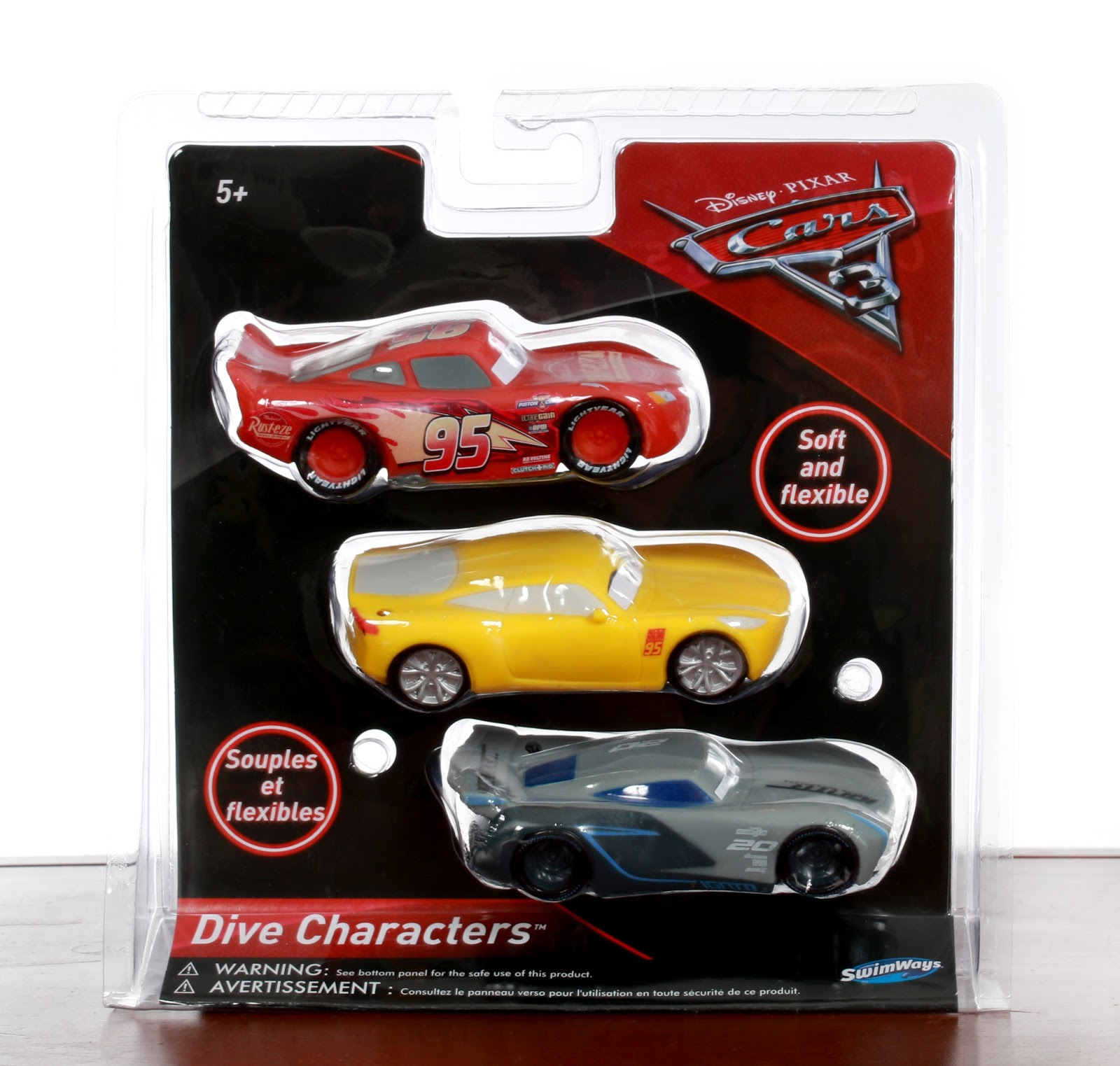 Cars 3 pool toys Dive Charaters Three-Pack SwimWays