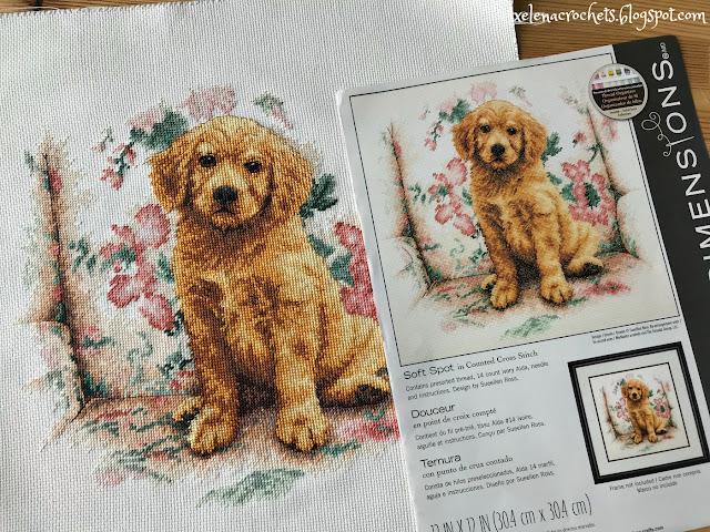вышивка дименшенс 35329 щенок