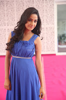 Divya Nandini stunning Beauty in blue Dress at Trendz Exhibition Launch ~  Celebrities Galleries 070.JPG