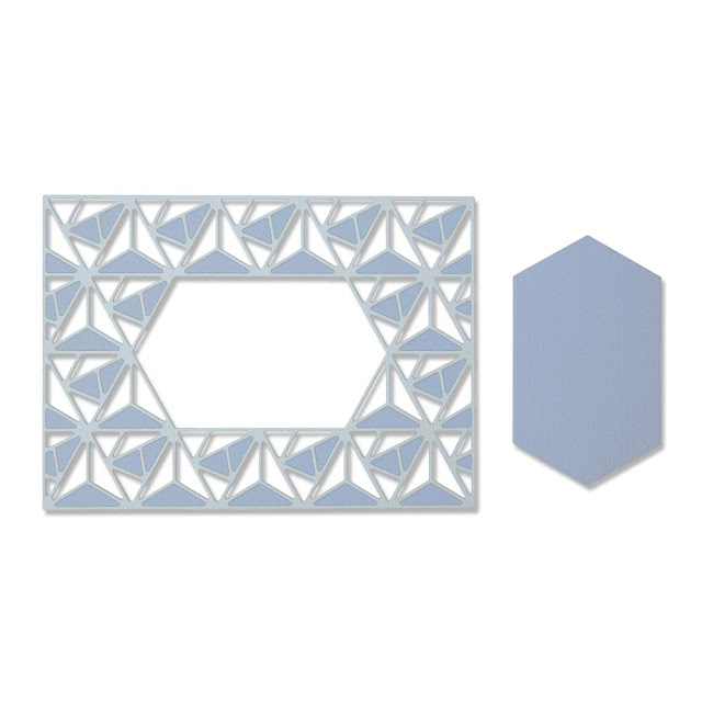 Sizzix Thinlits Die Set 2PK – Geo Lattice Frame (664398)
