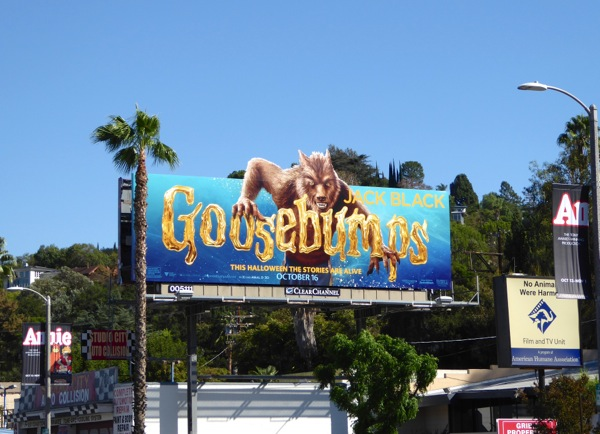Werewolf Goosebumps special extension billboard