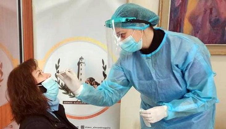 Συνεχή rapid tests ανίχνευσης κορωνοϊού στο Δήμο Αλεξανδρούπολης