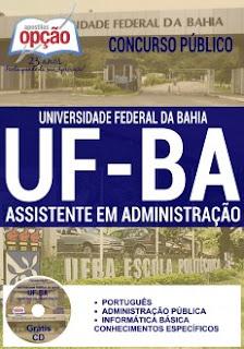 Apostila impressa UFBA - Universidade Federal da Bahia Concurso Público 2016
