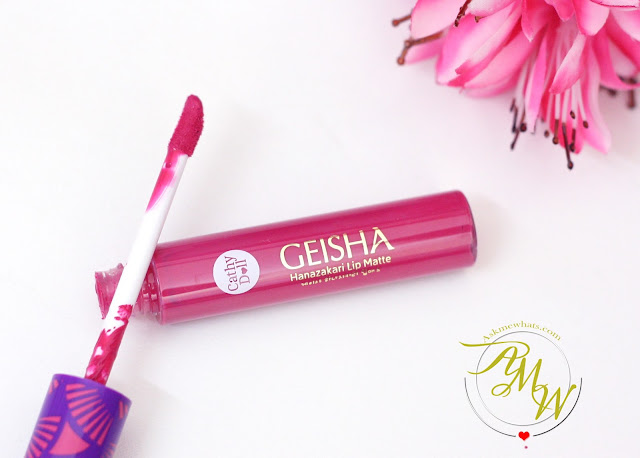 a photo of Cathy Doll Geisha Hanazakari Lip Matte  Pink Moss