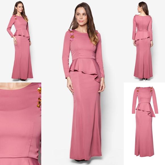 November 2016 Baju Kurung Moden Peplum Laila Pink By Vercato - Fesyen Trend Terkini