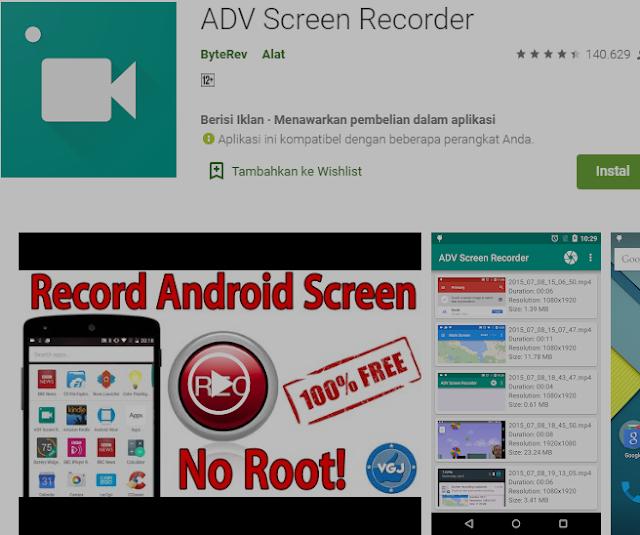 5Aplikasi Perekam Layar Smart phoneTanpa Root. 6