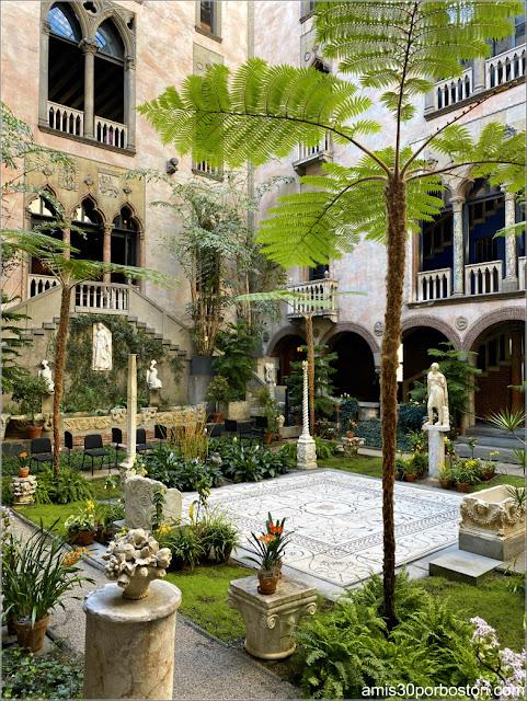 Mosaico del Patio Interior del Museo Isabella Stewart Gardner en Boston