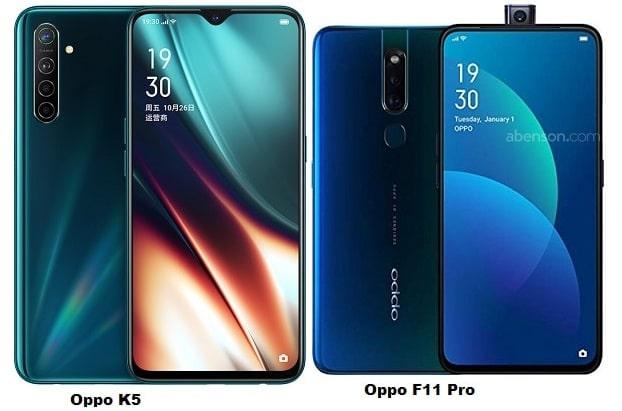 Oppo K5 Vs Oppo F11 Pro Specs Comparison
