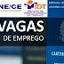 SINE/IDT DIVULGA VAGAS DE EMPREGO PARA RESIDENTES EM SÃO BENEDITO