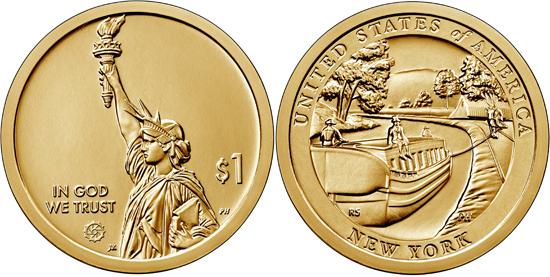 USA 1 dollar 2021 - Erie Canal (New York)