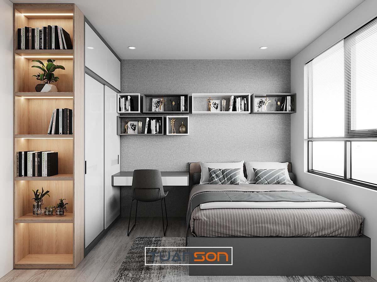Thiết kế thi công nội thất phòng ngủ căn hộ Vinhomes Ocean Park Gia Lâm