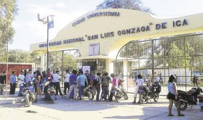 Dos mil egresados de la Universid Nacional San Luis Gonzaga de Ica no pueden tramitar grados y títulos por falta de rector interino